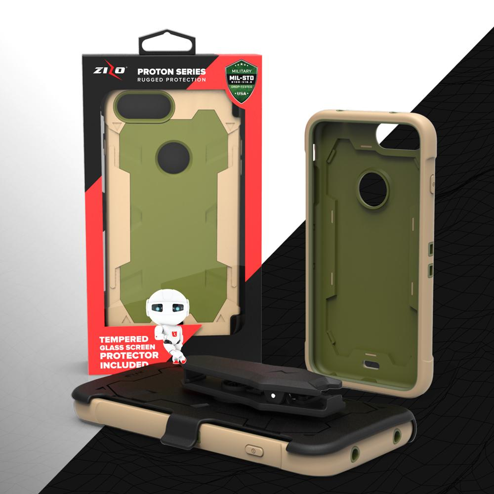 online retailer 4af2c d630b Details about iPhone X / 8 / 8 Plus / 7 / 7 Plus, Zizo PROTON Case Military  Grade Glass Screen