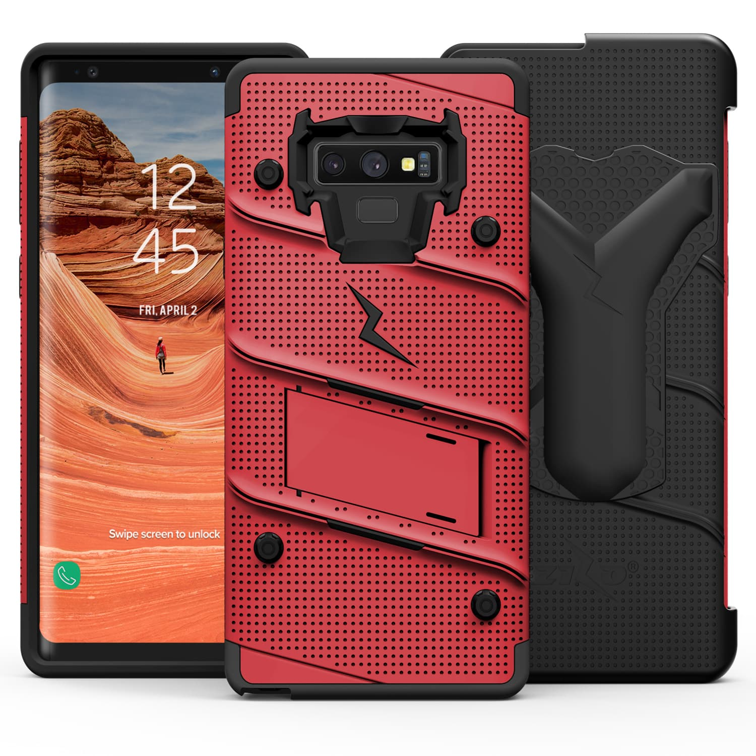 online store a4e7a 4ca98 Details about Samsung Galaxy Note 9 case, Zizo BOLT with Screen Protector,  Holster & Kickstand
