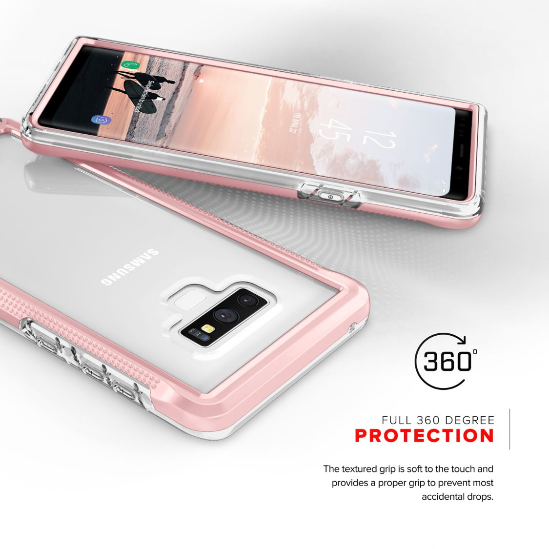reputable site aff23 f132f Details about Samsung Galaxy Note 9 Case, Zizo ION Shockproof with Full  Glass Sreen Protector