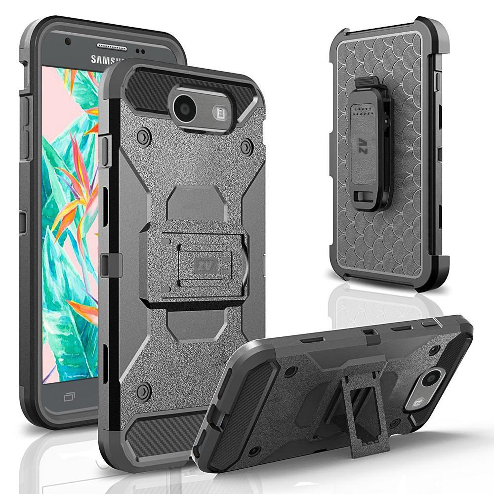 buy online 187b2 cb268 Details about Samsung Galaxy J3 Emerge Case, ZV Tough Armor Cover w/  Kickstand - J3 Prime