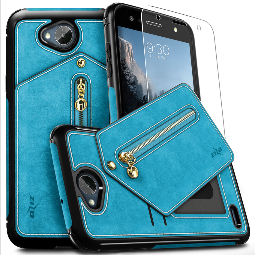 promo code 1b974 7faac Details about LG X Power 2 LV7 Case, Zizo Nebula Cover-Wallet Case and  Pouch - LG X Charge