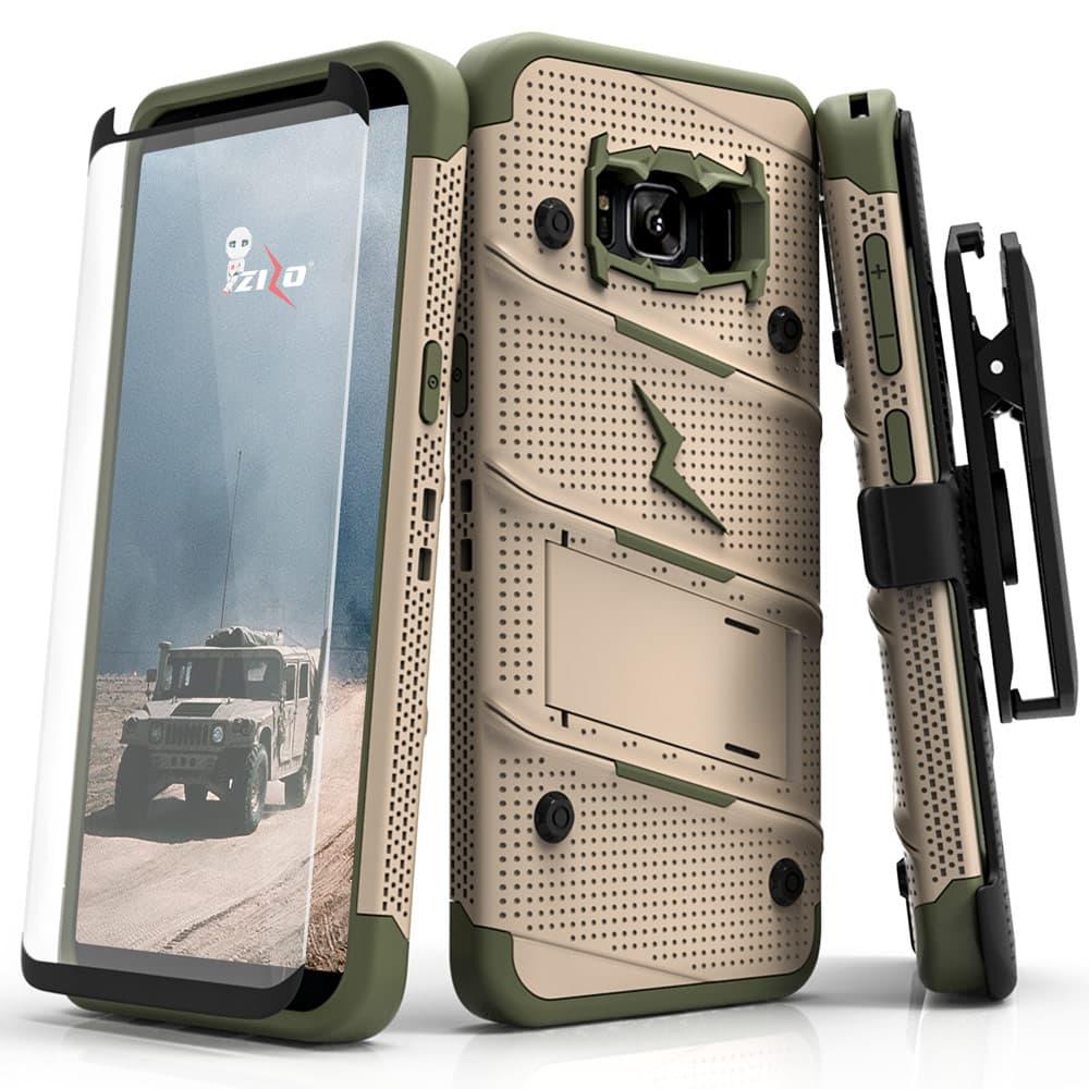 samsung galaxy s8 plus case zizo bolt series w screen protector
