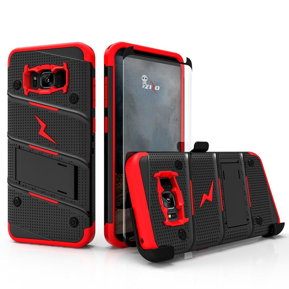 super popular 3ef7e f1f55 Details about Galaxy Note 8 / S8 / S8 Plus Case, Zizo Bolt w/ Screen  Protector and Holster