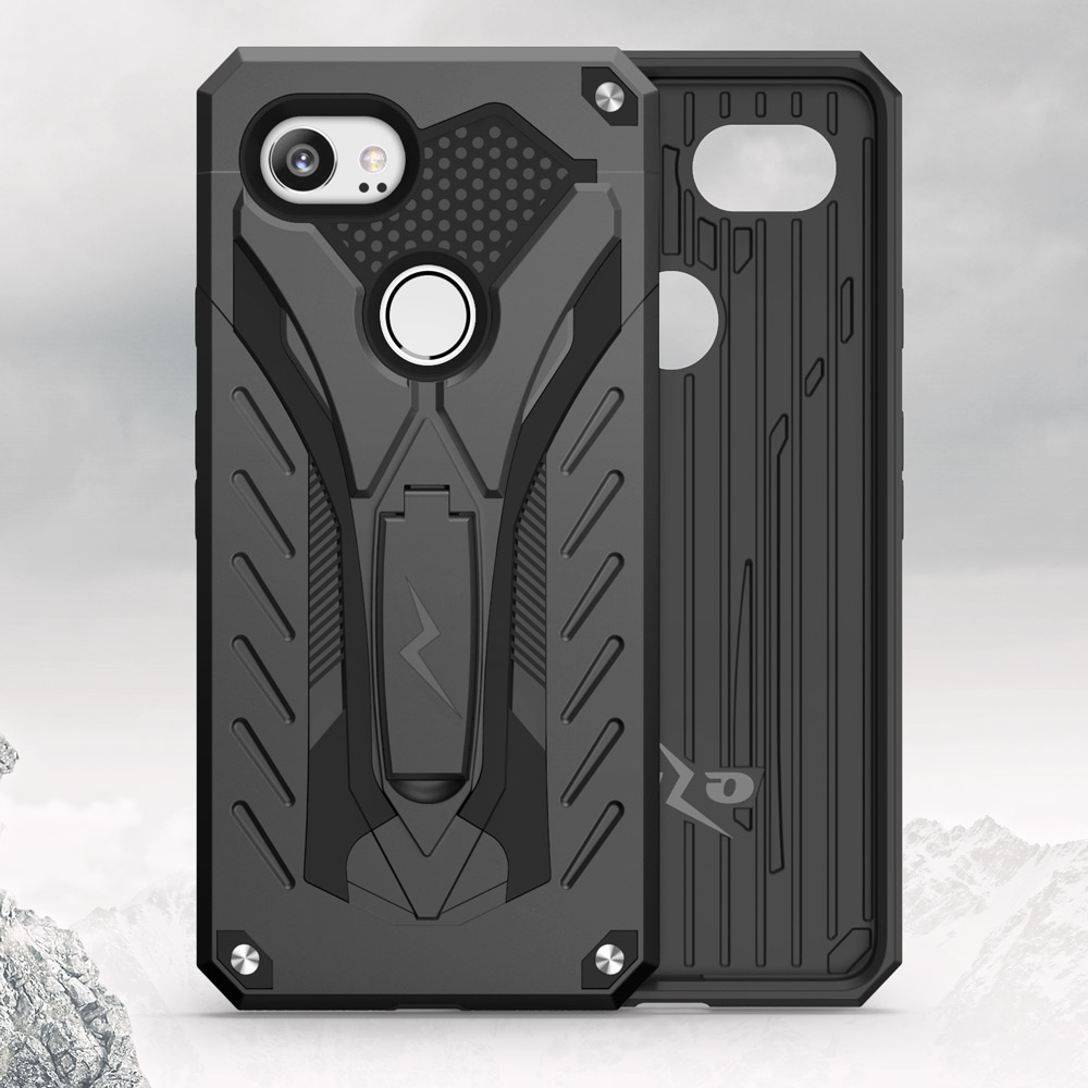 competitive price ebf63 cdec3 Details about Zizo STATIC Series Google Pixel 2 XL Case - w/ Built-In  Kickstand