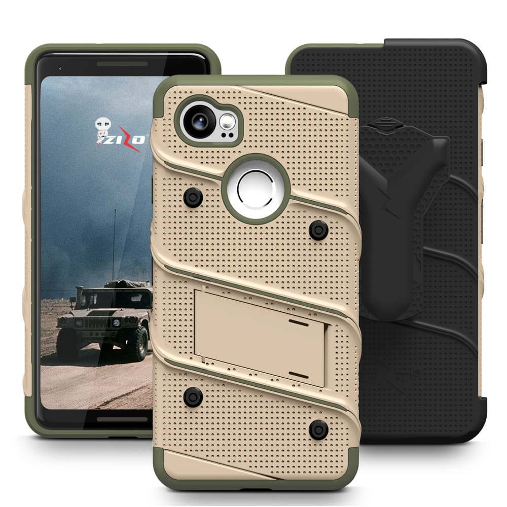 new arrival e0852 604e3 Details about Zizo Bolt Series Google Pixel 2 XL Case - 12ft Drop Tested  with Screen Protector